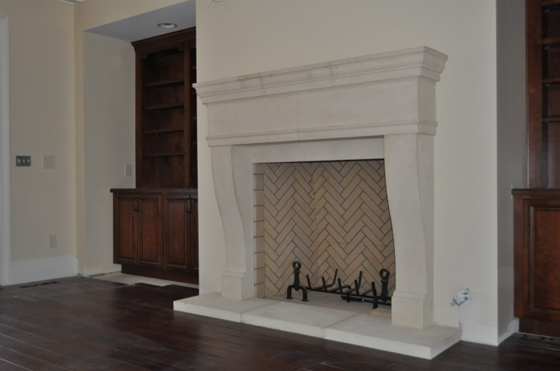 Modern Cast Stone Fireplaces Surround