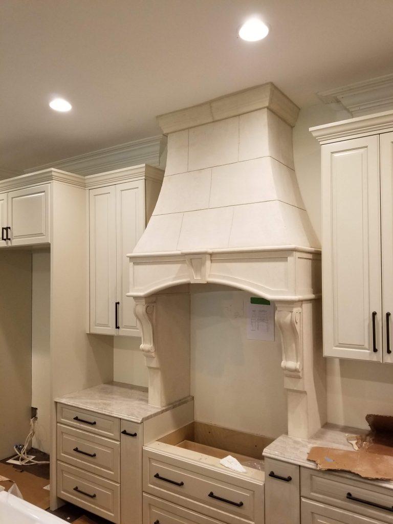 Limestone Range Hoods and Cast Stone Vent Hood - Astone Artisan